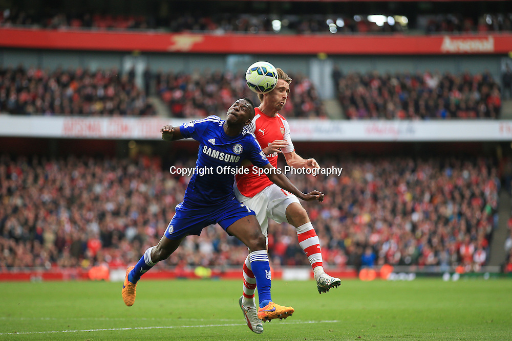 26 April 2015 - Barclays Premier League - Arsenal v Chelsea - Ramires of Chelsea in action with Nacho Monreal of Arsenal - Photo: Marc Atkins / Offside.