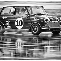 #10, Austin Mini Cooper S (1965), Martin O'Connell (GB), Silverstone Classic 2015, Warwick Banks Trophy for Under 2 Litre Touring Cars (U2TC). 24.07.2015. Silverstone, England, U.K.  Silverstone Classic 2015.