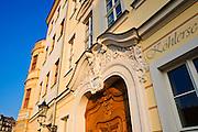 Neumarkt, Schützhaus und Köhlersche Weinhandlung, Dresden, Sachsen, Deutschland.|.Neumarkt, Schützhaus and Köhlersche Weinhandlung, Dresden, Germany