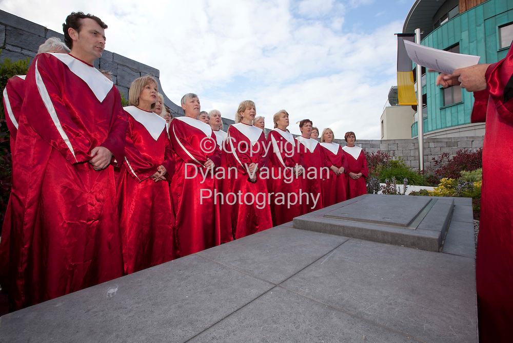 19/5/2010.Pictured at the Inter Denominational Service for Famine victims at the Famine Memorial Garden at MacDonagh Junction Kilkenny the Kilkenny Gospel Choir signing at the crypt..Picture Dylan Vaughan.