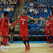 St. John's Forward Amber Thompson (2) is introduce to the crowd prior to a NCAA regular season non-conference game between Delaware (CAA) and St. John's (Big East) Monday, Dec 30, 2013 at The Bob Carpenter Sports Convocation Center in Newark Delaware.