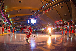 Lukas Pither (EC KAC, #9) during ice-hockey match between EC KAC and HDD Telemach Olimpija in 1st Round of EBEL League in Season 2014 / 15 on September 12, 2014 in Sporthalle KAC, Klagenfurt, Slovenia. Photo by Matic Klansek Velej / Sportida