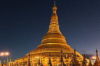 the golden stupa of the Shwedagon Pagoda Yangon (Rangoon) in Myanmar (Burma)