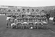 The Kerry team before the All Ireland Senior Gaelic Football Final Dublin v Kerry in Croke Park on the 26th September 1976. Dublin 3-08 Kerry 0-10. <br />