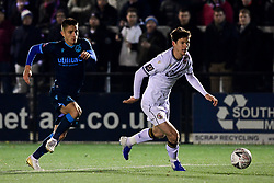 Billy Bingham of Bromley is marked by Tom Nichols of Bristol Rovers - Mandatory by-line: Ryan Hiscott/JMP - 19/11/2019 - FOOTBALL - Hayes Lane - Bromley, England - Bromley v Bristol Rovers - Emirates FA Cup first round replay
