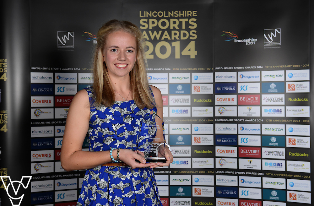 Lincolnshire Sport Awards 2014.<br /> <br /> Young Sports Volunteer of the Year award<br /> Sponsored by Nicholsons<br /> Winner: Laura Graves<br /> Runners-up: Joesph Wass, Jake Hill<br /> <br /> Picture: Jane Harrison/Chris Vaughan Photography for Lincolnshire Sport<br /> Date: November 6, 2014