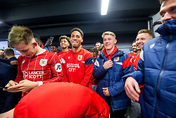 Zak Vyner of Bristol City reacts as they are drawn against Manchester City in the semi finals after Korey Smith of Bristol City scores a goal in the 93rd minute to make it 2-1 and win the match for his side - Rogan/JMP - 20/12/2017 - Ashton Gate Stadium - Bristol, England - Bristol City v Manchester United - Carabao Cup Quarter Final.