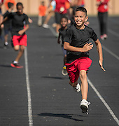 Elementary school students participate in a Special Olympics Field Day at Butler Stadium, November 17, 2016.