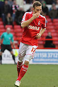 Todd Kane during the Sky Bet Championship match between Nottingham Forest and Millwall at the City Ground, Nottingham, England on 31 January 2015. Photo by Jodie Minter.