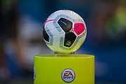 Football used during the Premier League match between Brighton and Hove Albion and Burnley at the American Express Community Stadium, Brighton and Hove, England on 14 September 2019.