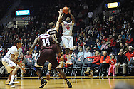 "Mississippi Rebels guard Stefan Moody (42) vs. Texas A&M Aggies guard Alex Caruso (21) at the C.M. ""Tad"" Smith Coliseum in Oxford, Miss. on Wednesday, February 4, 2015. (AP Photo/Oxford Eagle, Bruce Newman)"