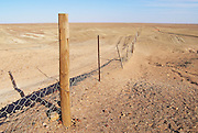 Dingoe fence in the Australian Outback. The fence is 9600 kilometers long, it keeps the dingoe dogs out of the areas, where the sheep graze.