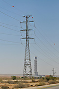 The Ashalim power station is a solar thermal power station in the Negev desert near the kibbutz of Ashalim, in Israel. The station will provide 121 Megawatt of electricity (2.0% of the Israeli consumption), which makes it the largest of its kind in Israel and 5th largest in the world.