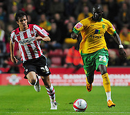 Southampton - Tuesday, September 30th, 2008: Omar Koroma of Norwich City attacks during the Coca Cola Championship match at Southampton. (Pic by Daniel Hambury/Focus Images)