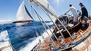SPAIN, Palma. 20th June 2013. Superyacht Cup. J Class. Race two. On board Velsheda.