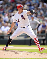 CHICAGO - JULY 01:  Chris Beck #54 of the Chicago White Sox pitches against the Texas Rangers on July 1, 2017 at Guaranteed Rate Field in Chicago, Illinois.  The Rangers defeated the White Sox 10-4.  (Photo by Ron Vesely) Subject:   Chris Beck