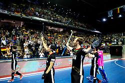 BERLIN - Indoor Hockey World Cup<br /> Semi-final 1: Germany - Iran<br /> foto: Dan Nguyen and Fabian Pehlke.<br /> WORLDSPORTPICS COPYRIGHT FRANK UIJLENBROEK
