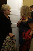 Candida Lycett-Green and Lady Weinberg,  The Moneypenny diaries book launch. Smythson, 40 New Bond St. London.  4 October 2005. . ONE TIME USE ONLY - DO NOT ARCHIVE © Copyright Photograph by Dafydd Jones 66 Stockwell Park Rd. London SW9 0DA Tel 020 7733 0108 www.dafjones.com