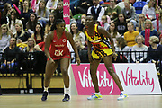 England Women GK Eboni Usoro-Brown during the Netball World Cup 2019 Preparation match between England Women and Uganda at Copper Box Arena, Queen Elizabeth Olympic Park, United Kingdom on 30 November 2018.