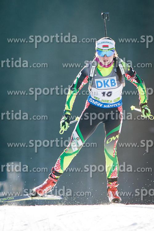 Iryna Kryuko (BLR) during Women 7,5 km Sprint at day 2 of IBU Biathlon World Cup 2015/16 Pokljuka, on December 18, 2015 in Rudno polje, Pokljuka, Slovenia. Photo by Ziga Zupan / Sportida