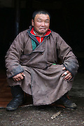 Stunning images reindeer herders of Mongolia<br /> <br /> Tsaatan people are reindeer herders and live in northern Khövsgöl Aimag of Mongolia. Originally from across the border in what is now Tuva Republic of Russia,the Tsaatan are one of the last groups of nomadic reindeer herders in the world. They survived for thousands of years inhabiting the remotest Ulaan taïga, moving between 5 and 10 times a year. <br /> The reindeer and the Tsaatan people are dependent on one another. Some Tsaatan say that if the reindeer disappear, so too will their culture. The Tsaatan depend on the reindeer for almost, if not all, of their basic needs:  their reindeers provide them with milk, cheese, meat, and transportation. They sew their clothes with reindeer hair, reindeer dung fuels their stoves and antlers are used to make tools. They do not use their animals for meat. This makes their group unique among reindeer-herding communities. As the reindeer populations shrink, only about 40 families continue the tradition today. Their existence is threatened by the dwindling number of their domesticated reindeer. Many have swapped their nomadic life for urban areas. <br /> <br /> Narahuu and Bolorma, husband and wife<br /> ©Pascal MANNAERTS/Exclusivepix Media