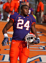 November 21, 2009; Clemson, SC, USA;  Clemson Tigers wide receiver Ronald Shamley (24) on the hill before the game against the Virginia Cavaliers  at Memorial Stadium.  Clemson defeated Virginia 34-21.