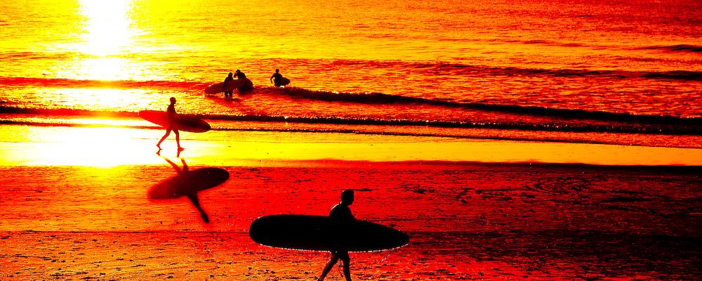 Surfing at Clarkes