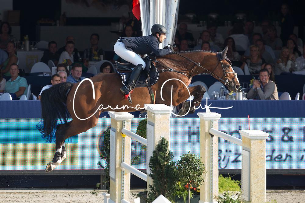 Dunon Gilles (BEL) - Fou de Toi van de Keikhoeve <br /> Belgian Championship<br /> FEI World Breeding Jumping Championships for Young Horses - Lanaken 2014<br /> &copy; Dirk Caremans