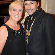 NLD/Amsterdam/20110521 - Amsterdam fashion Gala 2011, Roberto Dresia en .....