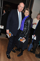 The DUKE & DUCHESS OF DEVONSHIRE at a private view to celebrate the opening of the Royal Academy's exhibition of work by David Hockney held at The Royal Academy, Burlington House, Piccadilly, London on 17th January 2012.