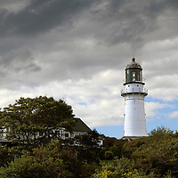 Cape Elizabeth Lighthouse, Twin Lights State Park, Cape Elizabeth, Maine, USA
