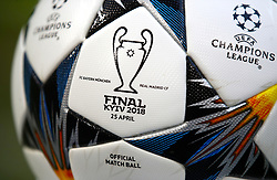 Closeup detail of the matchday ball ahead of the match