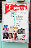 Photo studio sign in La Maya, Santiago de Cuba, Cuba.