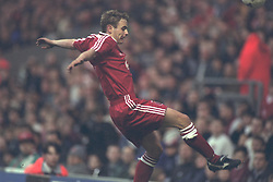 LIVERPOOL, ENGLAND - MAY 1996: Liverpool's Stuart Quinn in action against West Ham United during the FA Youth Cup Final 2nd Leg at Anfield. (Pic by David Rawcliffe/Propaganda)