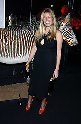 SARA PARKER BOWLES at a party to celebrate the first issue of British Harper's Bazaar held at Cirque, 10-14 Cranbourne Street, London WC2 on 16th February 2006.<br />