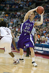 Holy Cross Crusaders guard Pat Doherty (20) in action against SIU.  The #4 seed Southern Illinois Salukis defeated the #13 seed Holy Cross Crusaders 61-51  in the first round of the Men's NCAA Tournament in Columbus, OH on March 16, 2007.