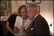 EVA DUGDALE-PENOT; NICKY HASLAM, Nicky Haslam hosts a party to launch a book by  Maureen Footer 'George Stacey and the Creation of American Chic' . With a foreword by Mario Buatta. Kensington. London. 11 June 2014