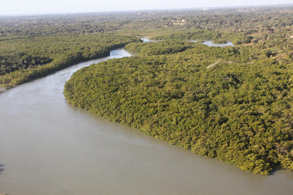 Mossoro_RN, Brasil.<br /> <br /> Imagem aerea do Rio Mossoro no Rio Grande do Norte.<br /> <br /> Aerial view of Mossoro river in Rio Grande do Norte.<br /> <br /> Foto: JOAO MARCOS ROSA / NITRO