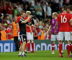 TOULOUSE, FRANCE - Monday, June 20, 2016: Wales masseur Chris Senior after the 3-0 victory over Russia and reaching the knock-out stage during the final Group B UEFA Euro 2016 Championship match at Stadium de Toulouse. (Pic by David Rawcliffe/Propaganda)