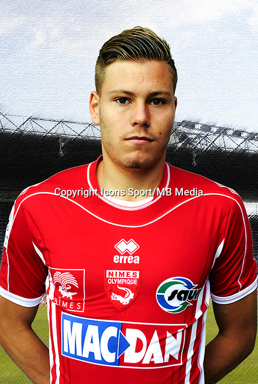 Renaud Ripart  - 26.09.2013 - Photo officielle - Nimes 2013/2014 - Ligue 2<br />