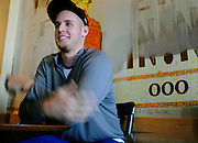New York Mets pitcher Zack Wheeler talks about joining the New York Mets, Monday, Jan. 21, 2013, from a coffee shop in Hiram, Ga.   (David Tulis)