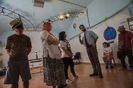 Roma, 17/06/2016: Laboratorio teatrale &quot;Il condominio di via dei Sabelli&quot; in occasione delle prove dello spettacolo &quot;Se mi sfratti ... ti cancello&quot;. Il grande Cocomero, Associazione che opera nel campo della psichiatria dell'et&agrave; evolutiva - Early Psychosis ward of Child Neuro Psychiatry. Theatre workshop at &quot;Il Grande Cocomero&quot;, an association involved with social issues.<br /> &copy;Andrea Sabbadini