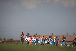 "12.04.2018, Konzentrationslager Auschwitz, Oswiecim, CHR, ""March of the living"" am Weg aus dem ehemaligen deutschen Nazi-Todeslager Auschwitz I nach Auschwitz II - Birkenau, im Bild Teilnehmer des Marsches// participants during the 'March of the Living' from the former German Nazi death camp Auschwitz I to Auschwitz II - Birkenau at the concentration camp in Oswiecim, Poland on 2018/04/12. EXPA Pictures © 2018, PhotoCredit: EXPA/ Florian Schroetter"