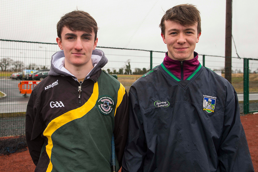 Hurling Coaching Conference at Meath Centre of Excellence, Dunganny, 20th February 2016<br /> Pictured at the Hurling Coaching Conference, L-R, Jake O`Brien & Jamie Smyth (Both Kilyon)<br /> Photo: David Mullen /www.cyberimages.net / 2016