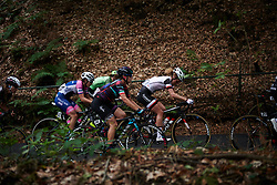 Elena Cecchini (ITA) and Floortje Mackaij (NED) at Boels Ladies Tour 2018 - Stage 2, a 137.9km road race in Nijmegen, Netherlands on August 29, 2018. Photo by Sean Robinson/velofocus.com