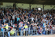 Dundee fans celebrate James McPake's goal - Dundee v Celtic SPFL Premiership at Dens Park<br /> <br />  - &copy; David Young - www.davidyoungphoto.co.uk - email: davidyoungphoto@gmail.com