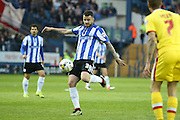 Sheffield Wednesday defender, on loan from Watford, Daniel Pudil (36) with a shot during the Sky Bet Championship match between Sheffield Wednesday and Milton Keynes Dons at Hillsborough, Sheffield, England on 19 April 2016. Photo by Simon Davies.