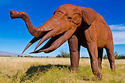 Gomphotherium sculpture at Galleta Meadows Estate, Borrego Springs, California USA