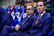 Walter De Raffaele, Federico Casarin<br /> Banco di Sardegna Dinamo Sassari - Umana Reyer Venezia<br /> LBA Serie A Postemobile 2018-2019<br /> Sassari, 10/11/2018<br /> Foto L.Canu / Ciamillo-Castoria