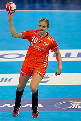 13-12-2019 JAP: Semi Final Netherlands - Russia, Kumamoto<br /> The Netherlands beat Russia in the semifinals 33-22 and qualify for the final on Sunday in Park Dome at 24th IHF Women's Handball World Championship / Danick Snelder #10 of Netherlands